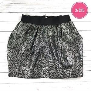 Charlotte Russe Black Silver Metallic Skirt